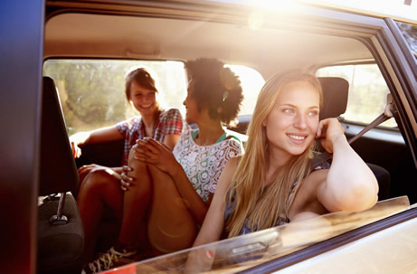 passengers in car