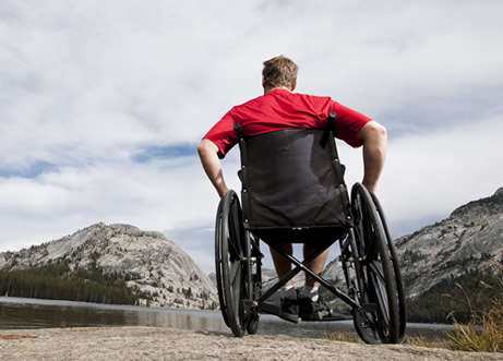 wheelchair user with spinal cord injury